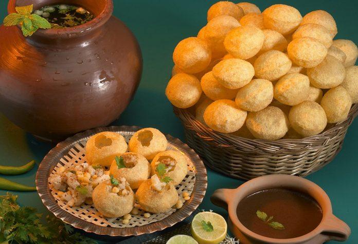 Spicy Golgappe or Pani Poori