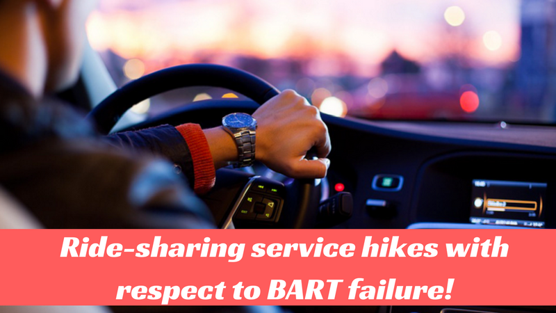 Ridesharing companies made use of the BART outage