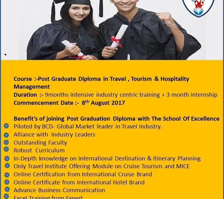 Career options after PG diploma in travel, tourism and hospitality