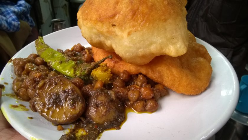 Chole Bhature With Pickle