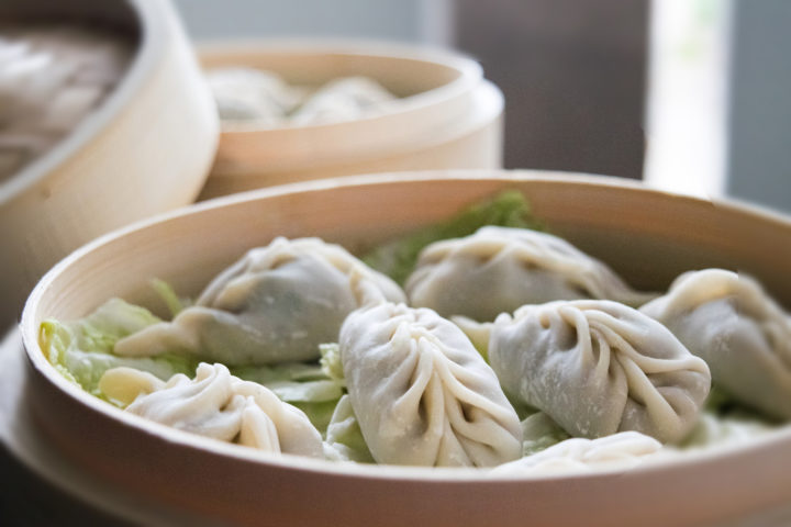 Momos With Chilly Sauce